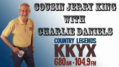 Cousin Jerry King with Charlie Daniels