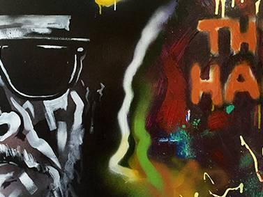 KKYX Disc Jockey Creates Merle Haggard Work of Art